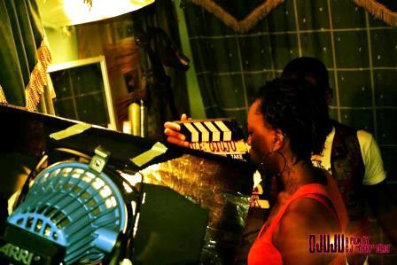 Yvonne Enakhena reprising her scene as Aisha.1